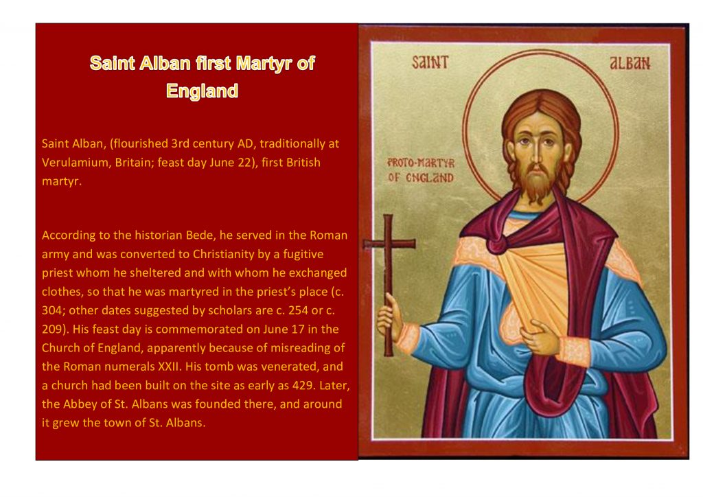 Saint Alban First Martyr of Britain