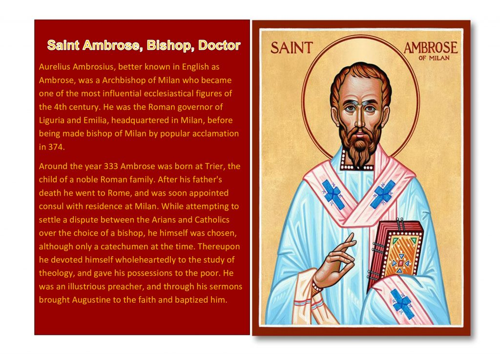 Saint Ambrose, Bishop, Doctor