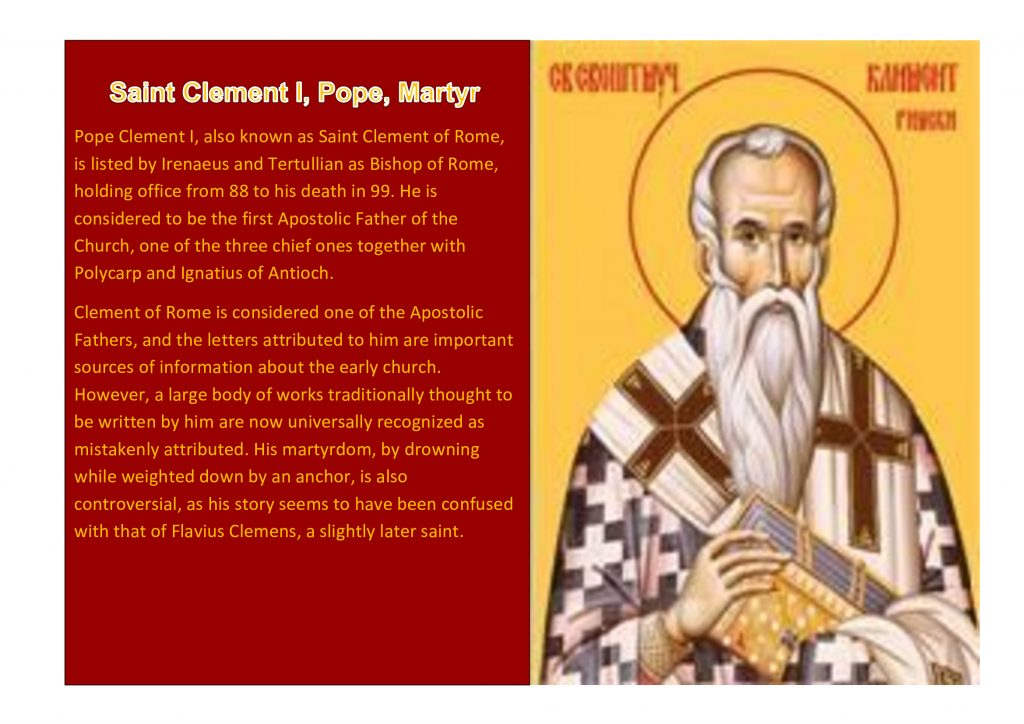 Saint Clement I, Pope, Martyr