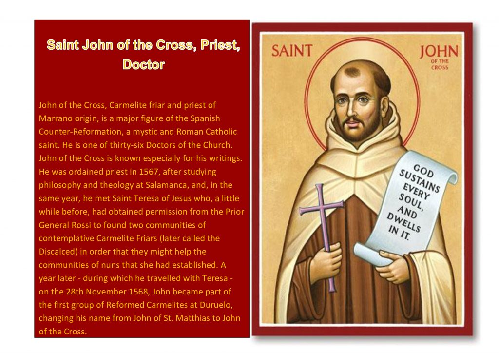 Saint John of the Cross week 14