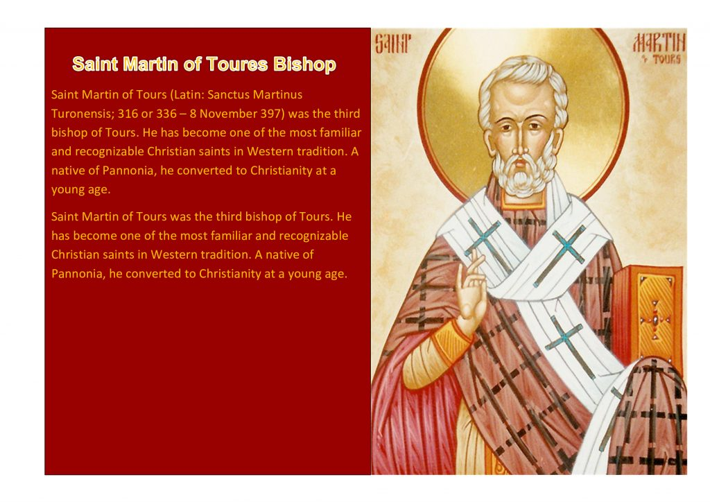 Saint Martin of Toures Bishop