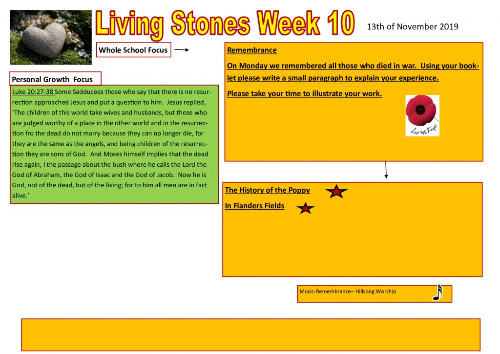 Week 10 Tutor time plan and resources