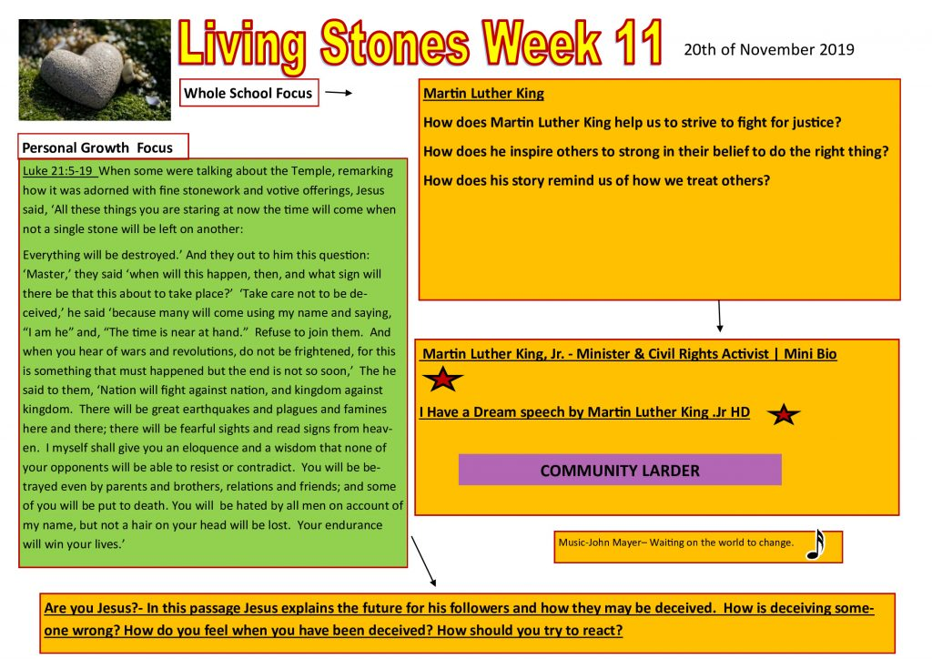 Week 11 Tutor time plan and resources