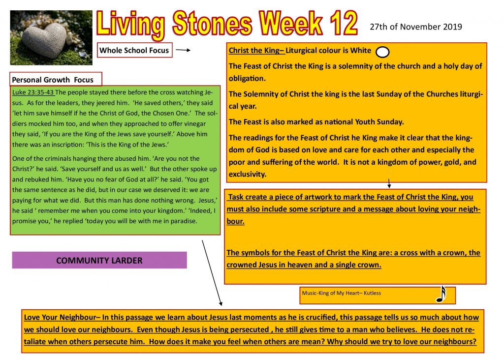 Week 12 Tutor time plan and resources
