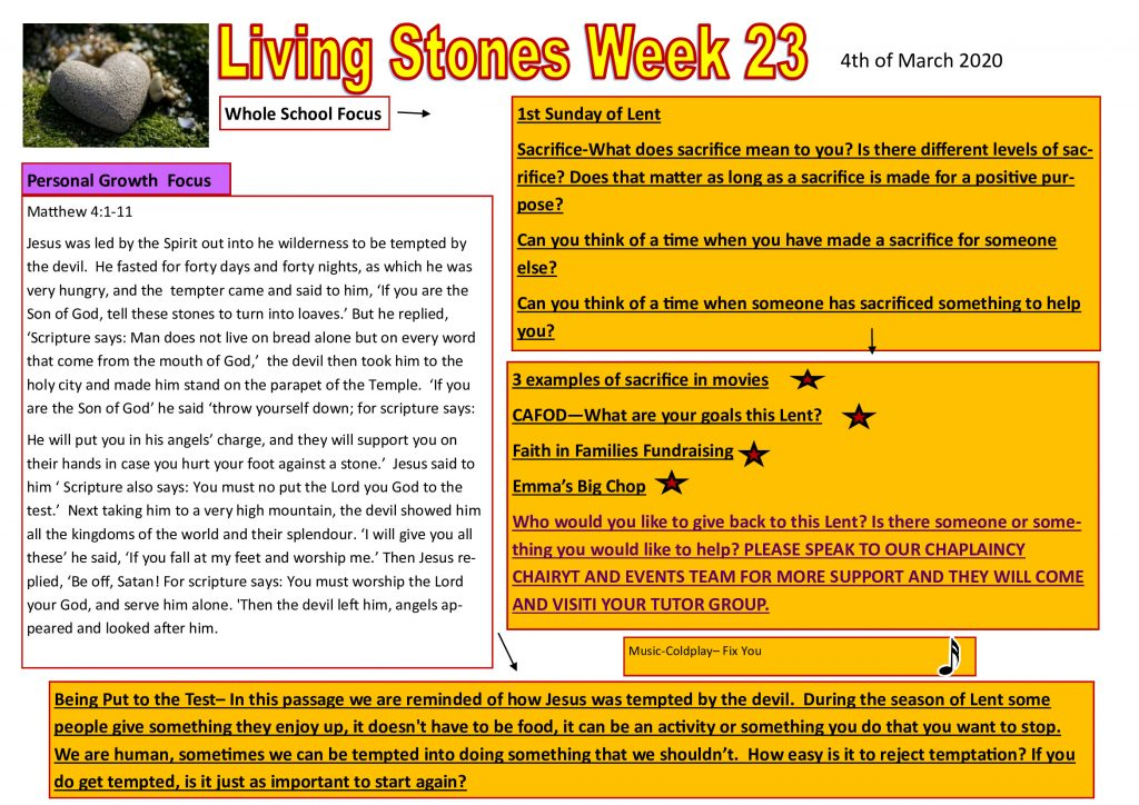 Week 23 Tutor time plan and resources
