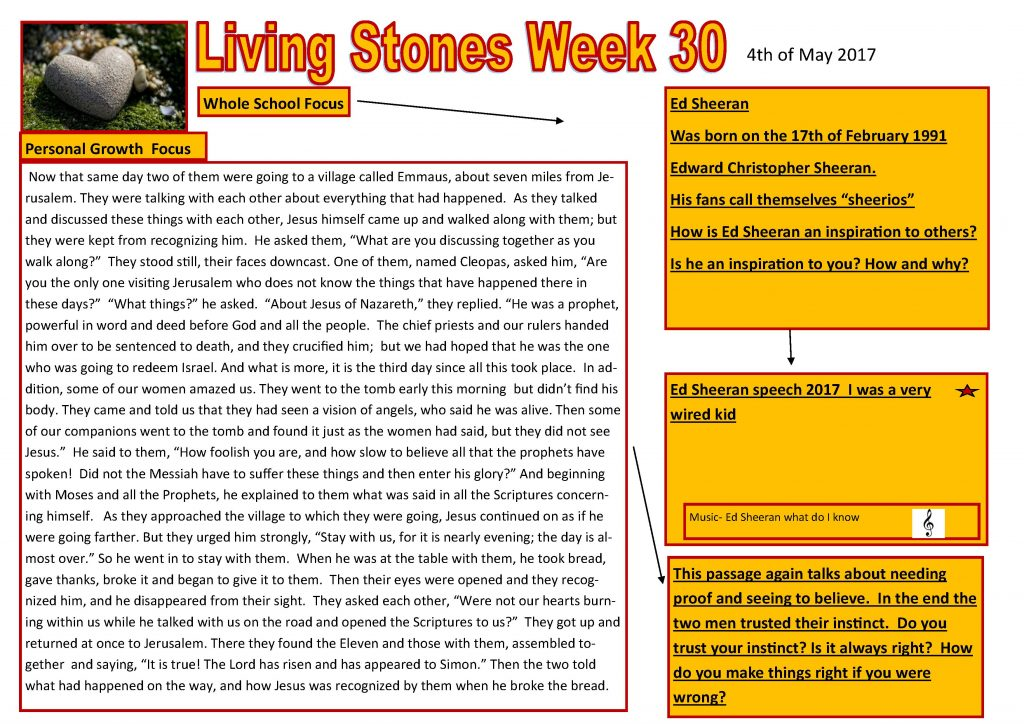 Tutor time plan and resources Week30 2