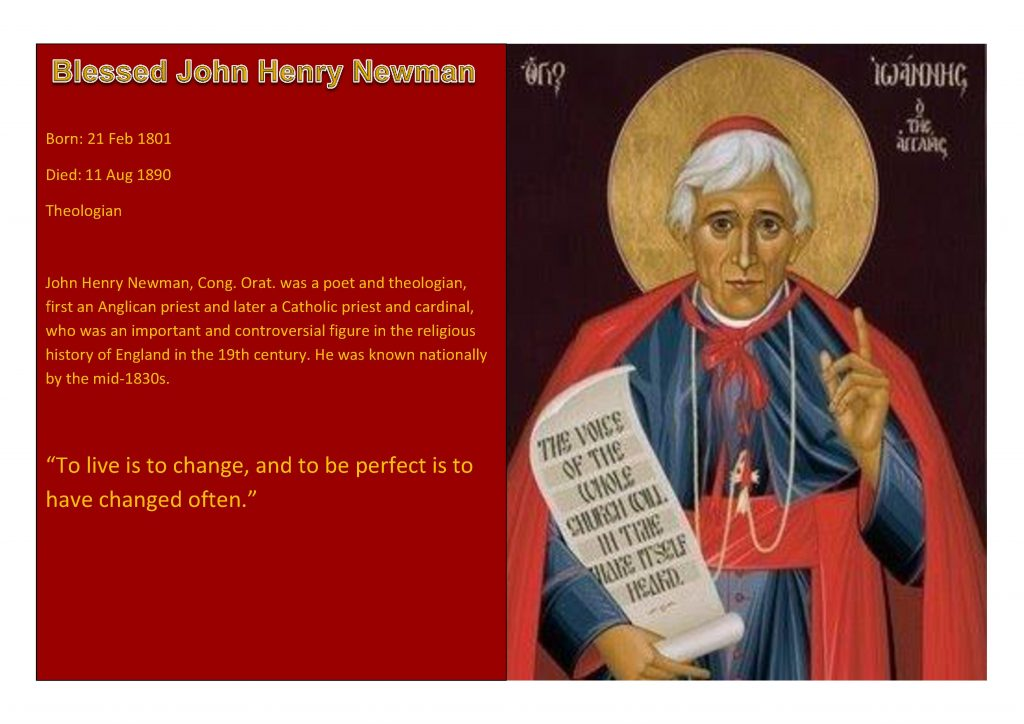 Saint of the Week Blessed John Henry Newman