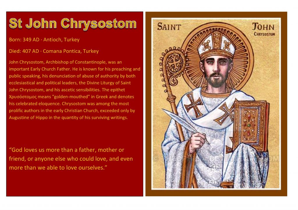 Saint of the Week Saint John Chrysostom 2