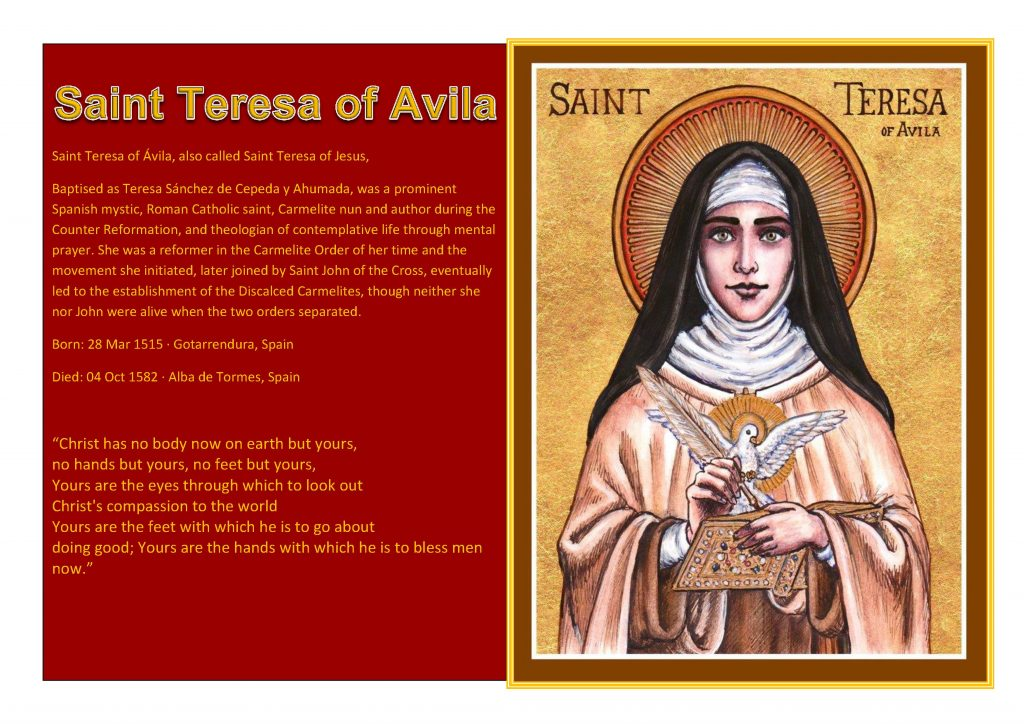 Saint of the Week Saint Teresa of Avila