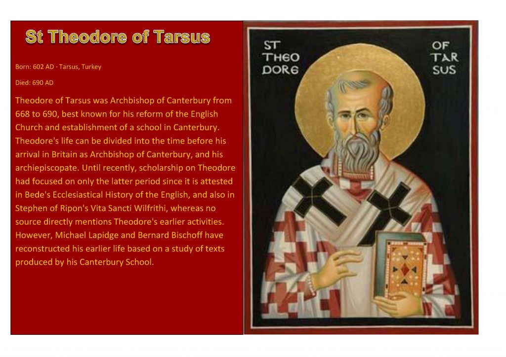 Saint of the week Theodore of Tarsus