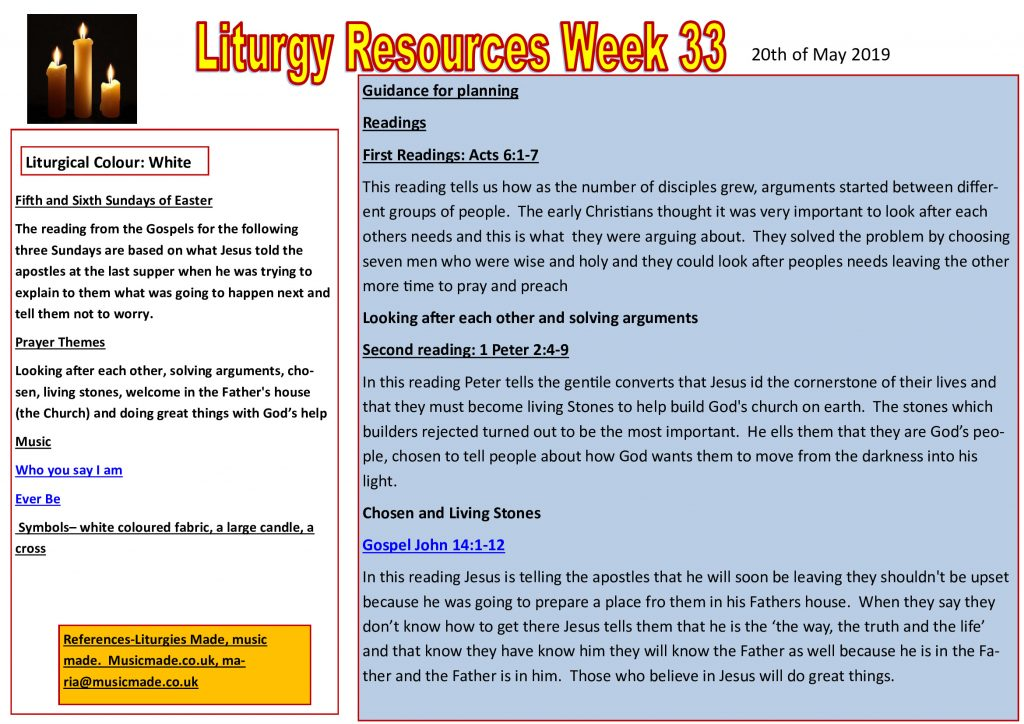 Liturgy Resources Week 33