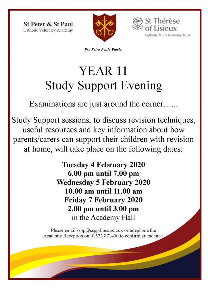 Year 11 Study Support Evening